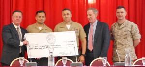 Presentation of NOVA Scholarship to MCNOSC Marines