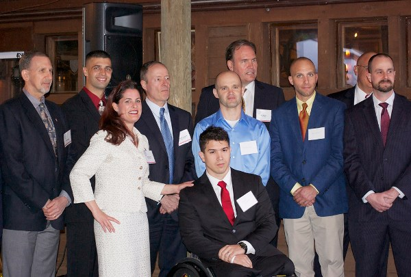Our Distinguished Guests join Wendy Maurer, the W2CCA Founders, and the Wounded Warriors for a group shot