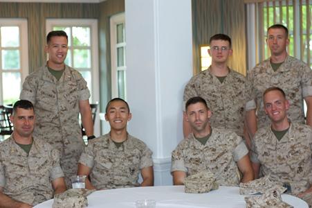 Comm School Lieutenants enjoy the Mixer