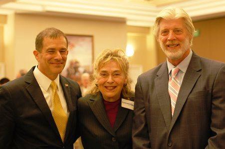 Chapter President, Steve Gaudreau (R), with MajGen George Allen, USMC (ret) and Mrs. Allen